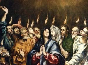 Pentecostés. El Greco