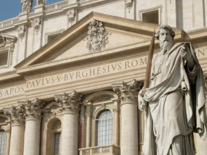 imagen de San Pablo de la Plaza de San Pedro en el Vaticano