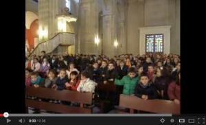 El Colegio la Inmaculada visita a la Virgen.
