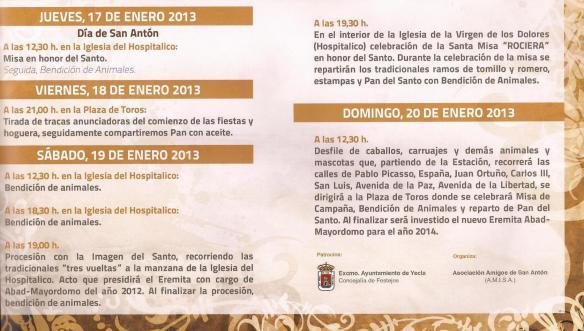 Cultos de San Antón 2013
