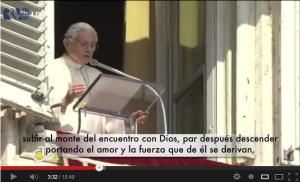 Vídeo del Ángelus